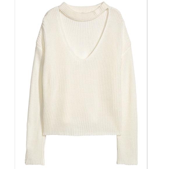 14d4525c58d3 H M Sweaters - H M V-Neck Choker Sweater